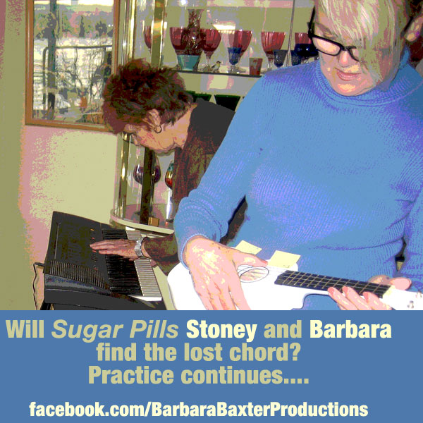 Stoney and Barbara at a recent jam session....